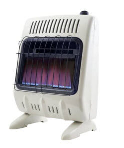 Heatstar 10,000 BTU Blue Flame Vent Free Heater w/Thermostat, Blower & Stand