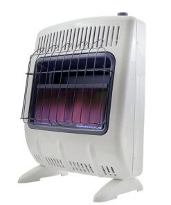 Heatstar 20,000 BTU Blue Flame Vent Free Heater w/Thermostat, Blower & Stand