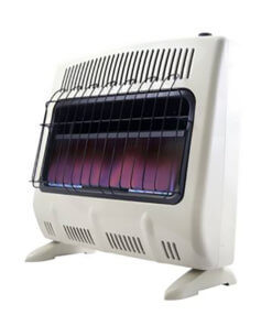 Heatstar 30,000 BTU Blue Flame Vent Free Heater w/Thermostat, Blower & Stand
