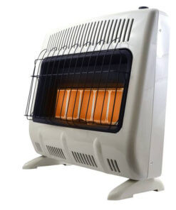 Heatstar 30,000 BTU Radiant Vent Free Heater w/Thermostat, Blower & Stand