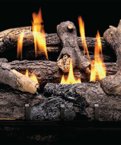 Heatmaster Charred Rustic Oak Vent Free Gas Log