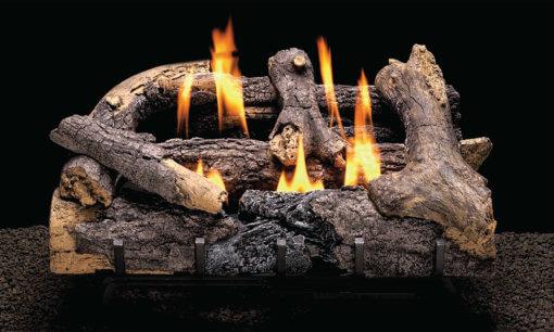 Heatmaster Charred Rustic Oak Vent Free Gas Log