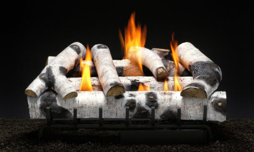 Heatmaster New River Birch Vent Free Gas Log